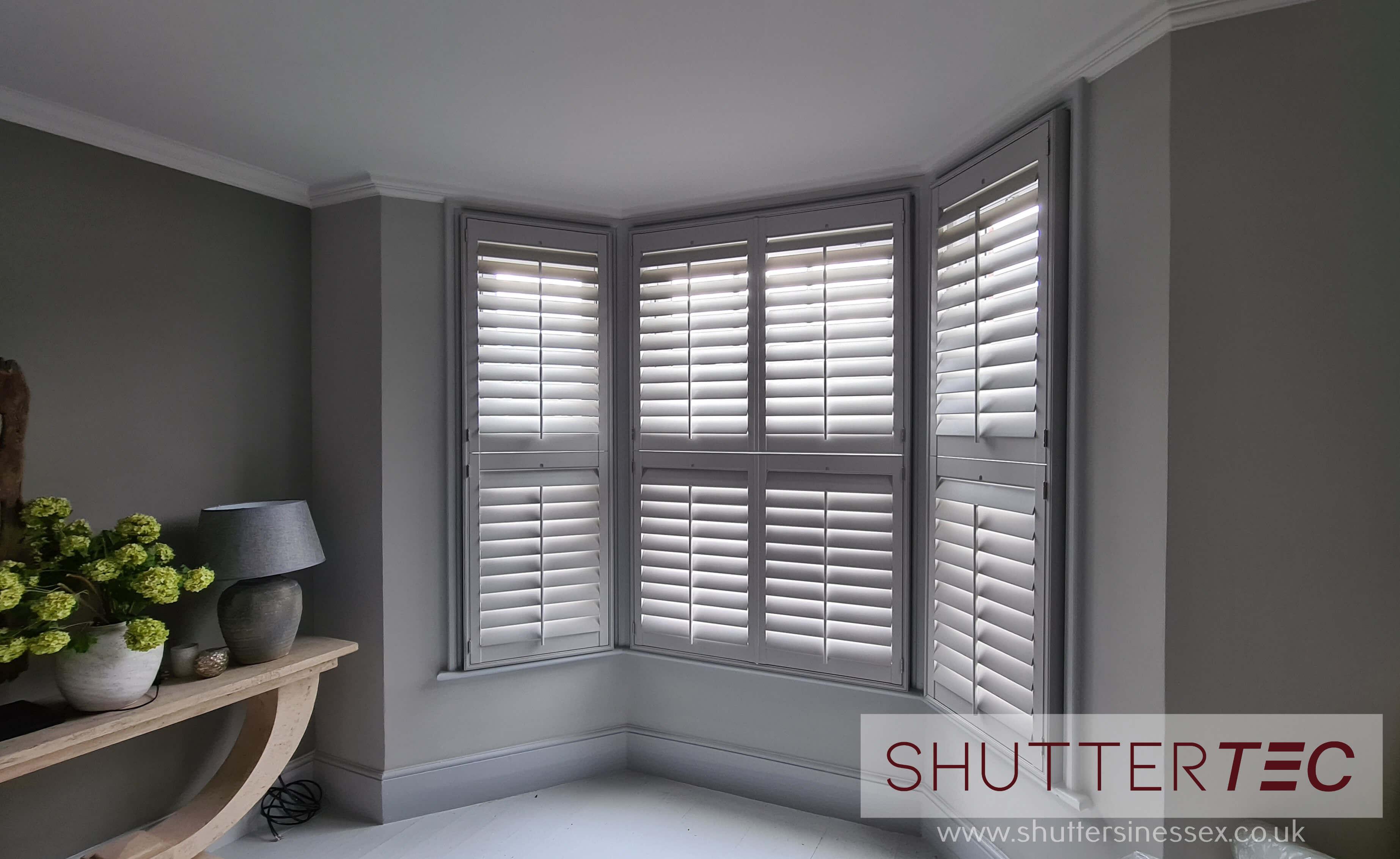 light grey shutters