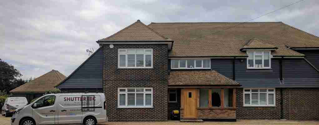 hardwood shutters on house in Essex