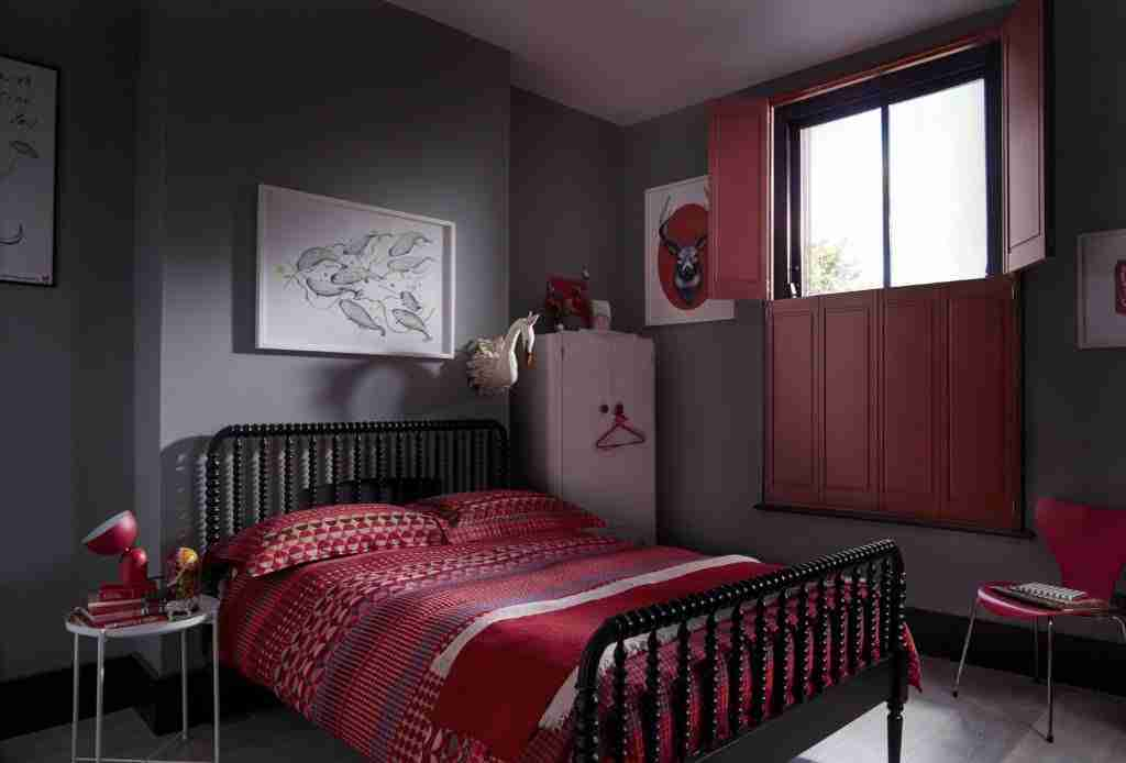 custom colour shutters in red