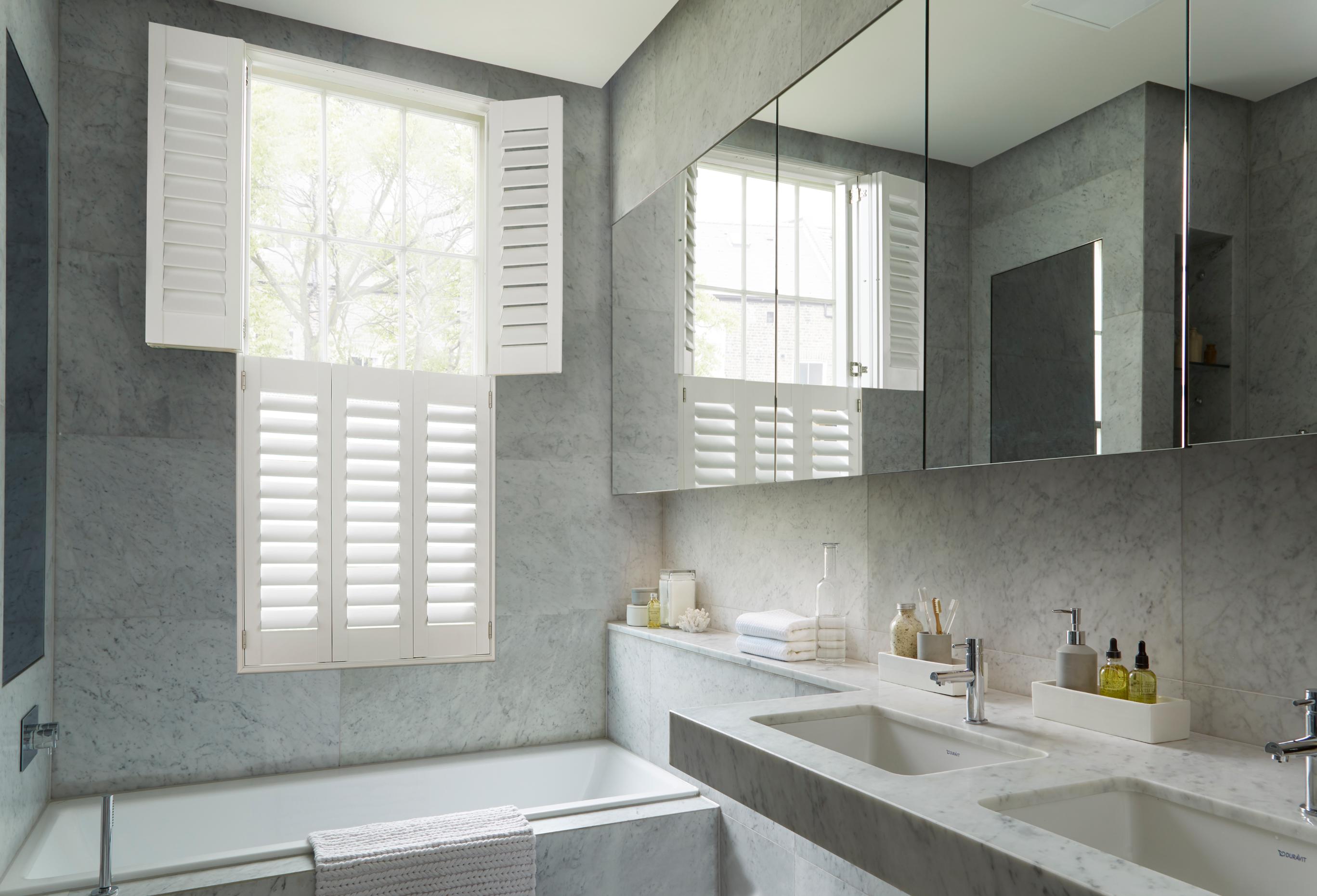 bathroom tier on tier shutters