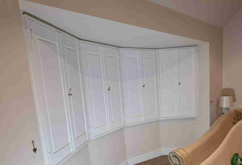 solid pabnel shutters in a lounge