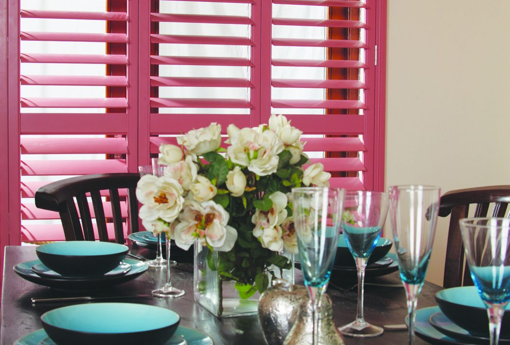 pink coloured shutters