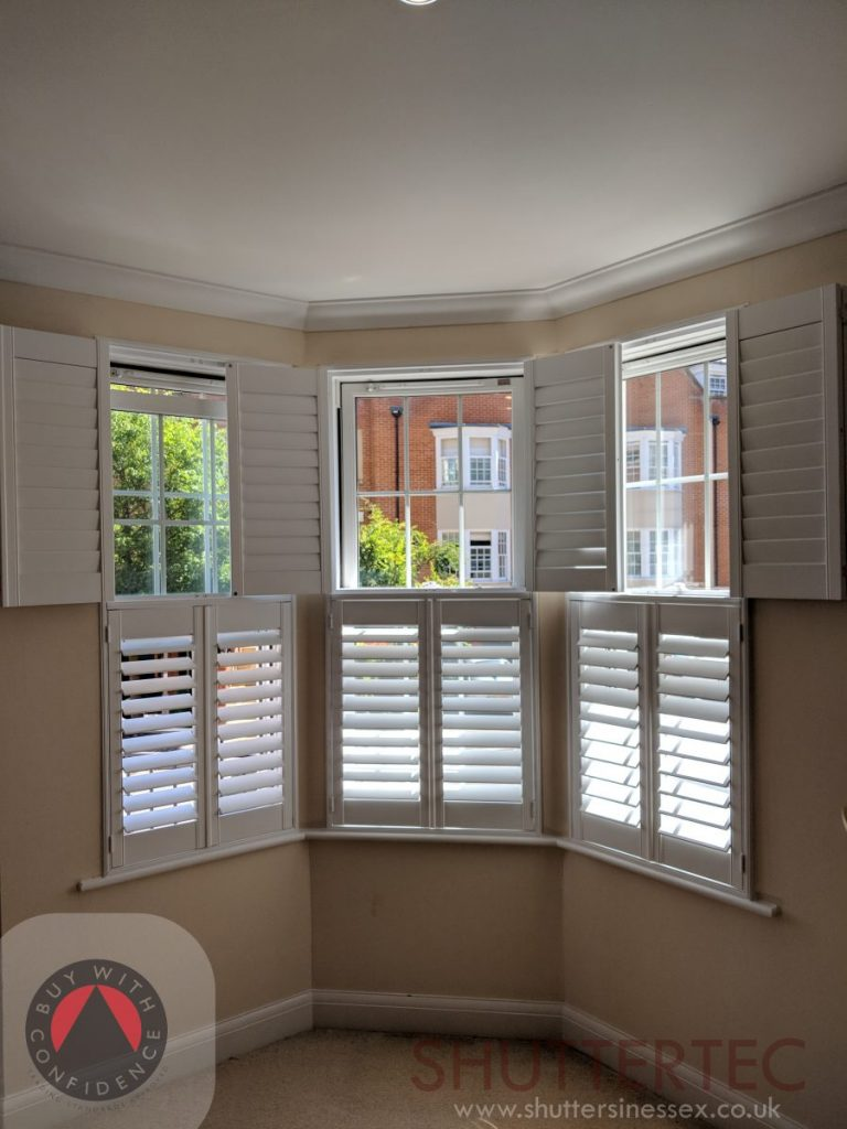 tier on tier shutters on bay window